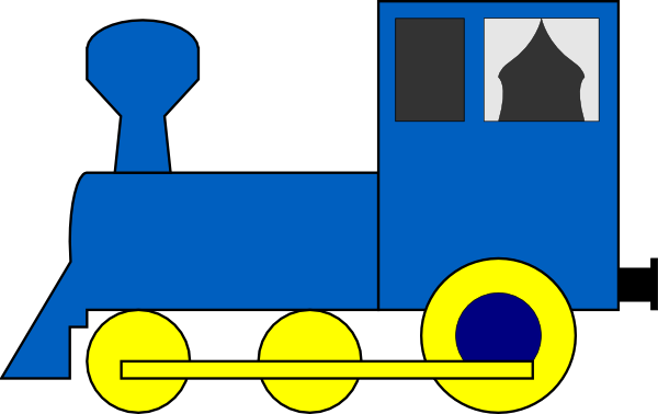 Drawing train simple. Engine clip art at