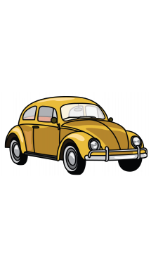 Drawing transparent car. How to draw vw