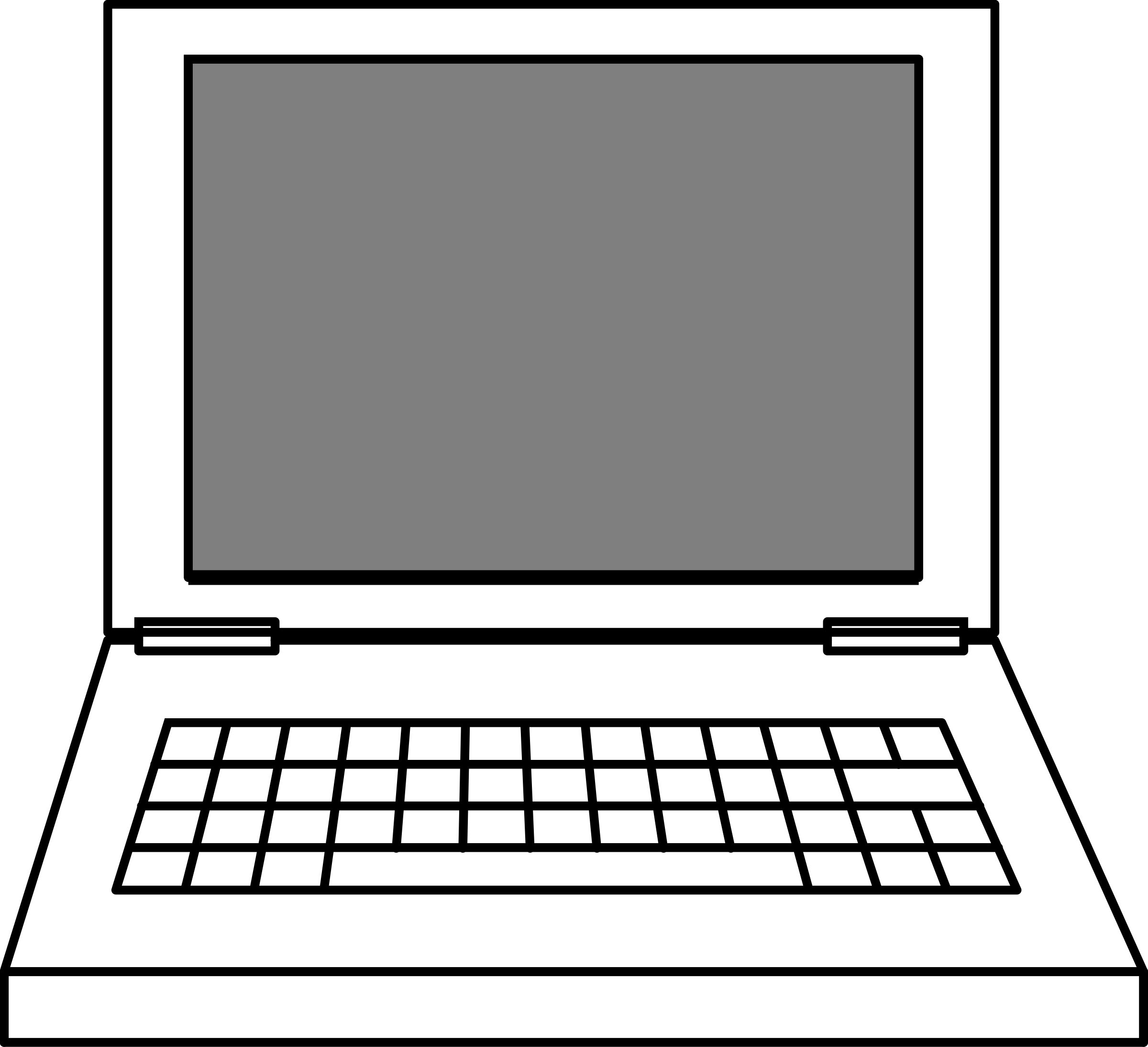 transparent computer picture. Drawing computers easy clip art free