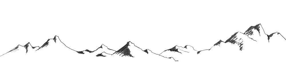 Drawing transparent mountain. Collection of clipart