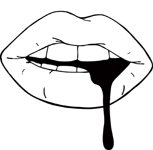 Drawing transparent mouth. Png image
