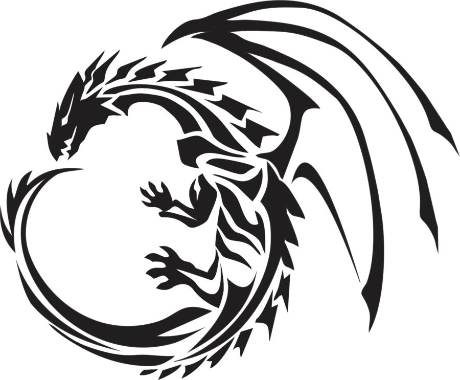 Drawing tribals dragon. Tribal pt by ovanreed