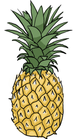 Drawing tribals pineapple. How to draw a