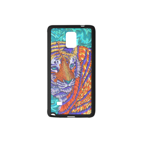 Drawing trippy galaxy. Customizable tiger rubber case