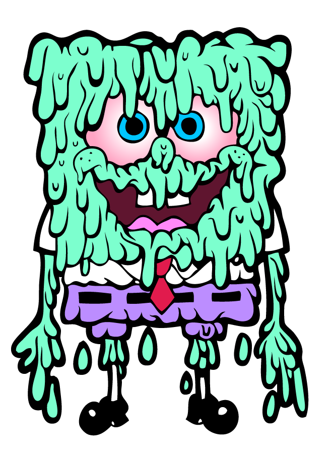 sponges drawing zombie