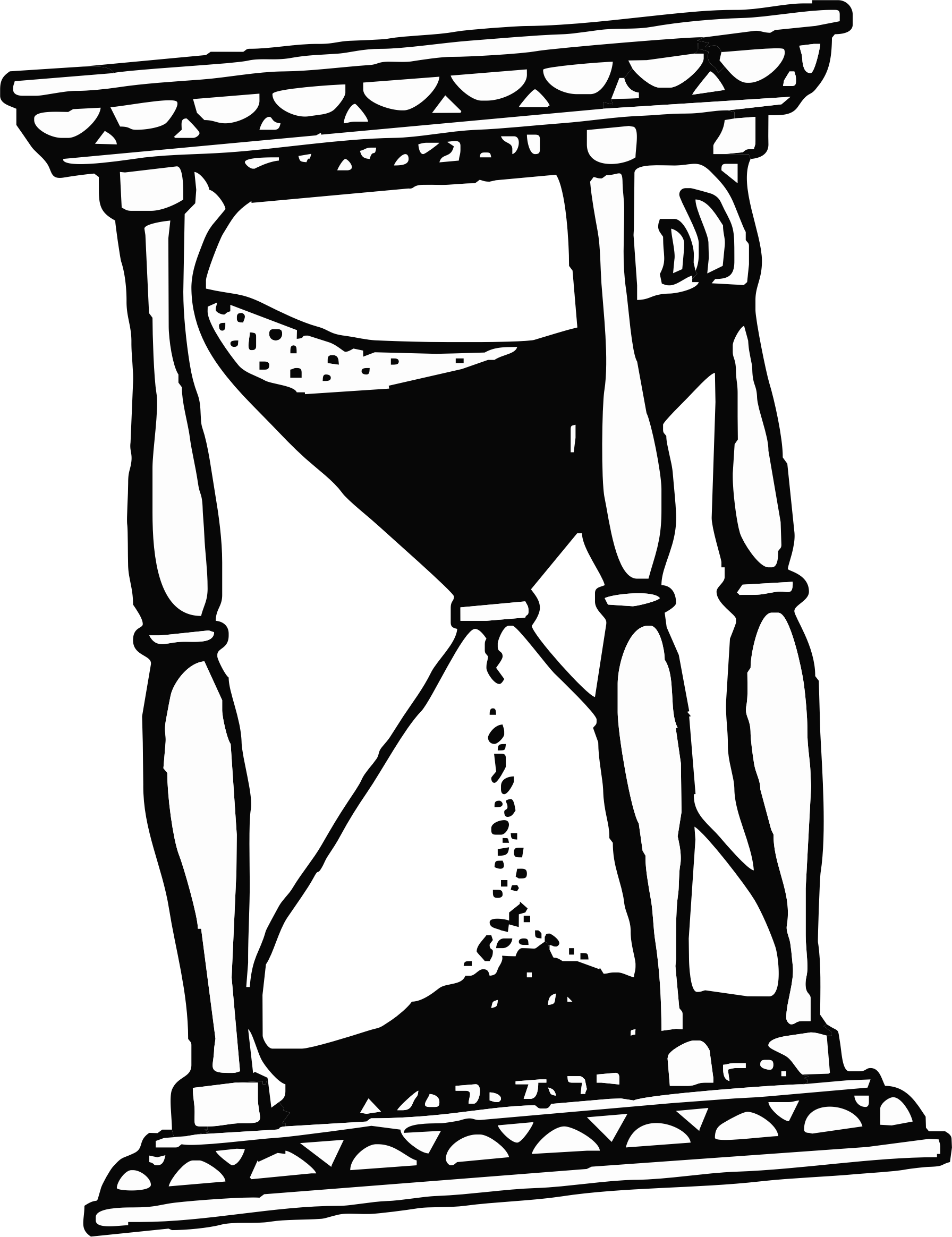 Drawing trippy hourglass. Clock at getdrawings com