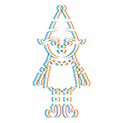 Psychedelic elf psy trance. Drawing trippy music clip art royalty free download