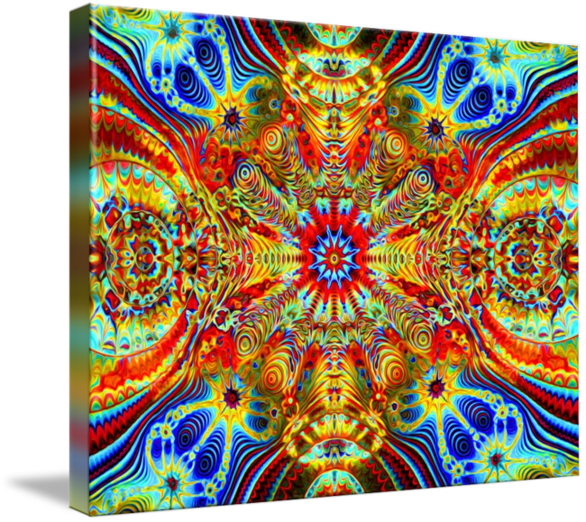 Trippy transparent cosmic. Creatrip psychedelic visuals by