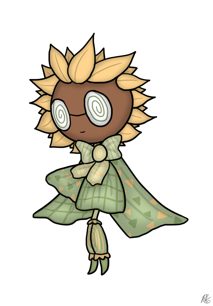 Drawing trippy plant. Image sunflower she s