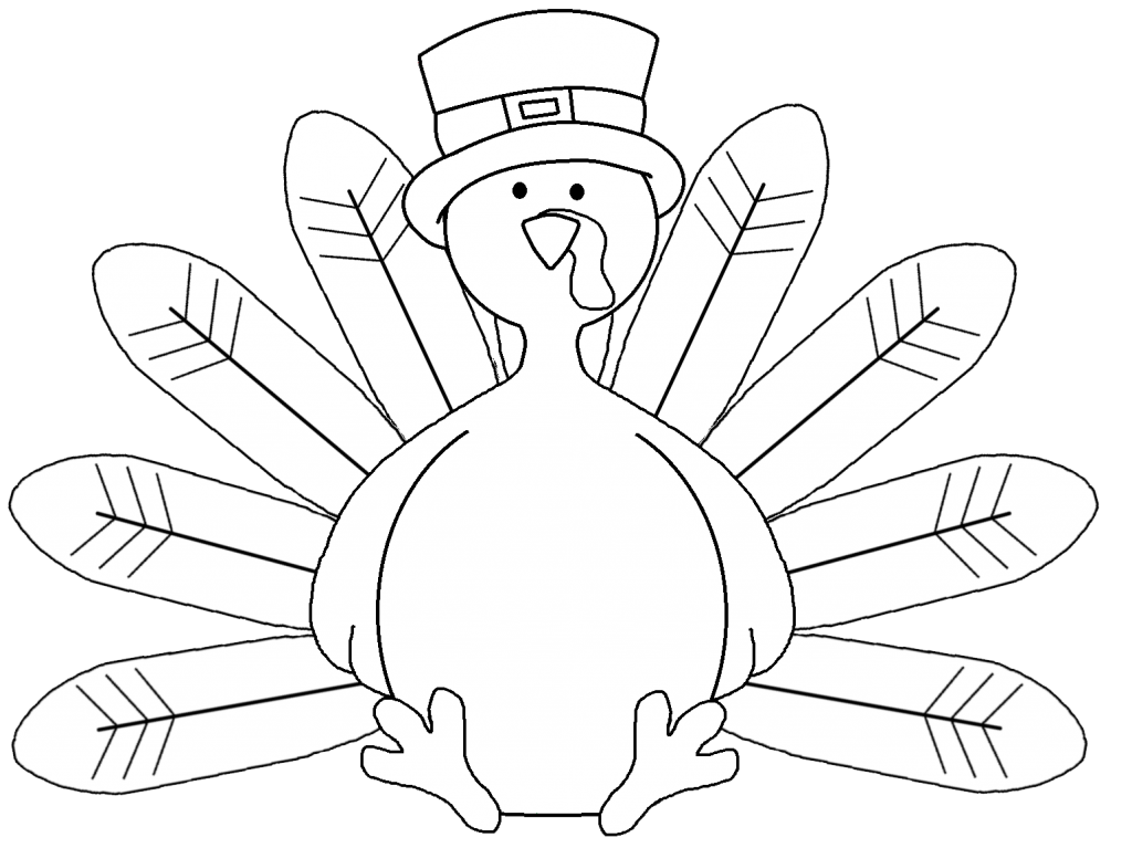 Drawing turkey black and white. Outline at getdrawings com