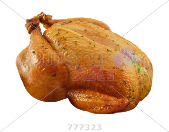 Drawing turkey cooked chicken. Stock photo of roasted