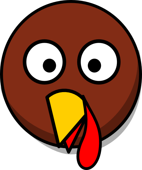 Turkey face drawing at. Vector heads banner transparent