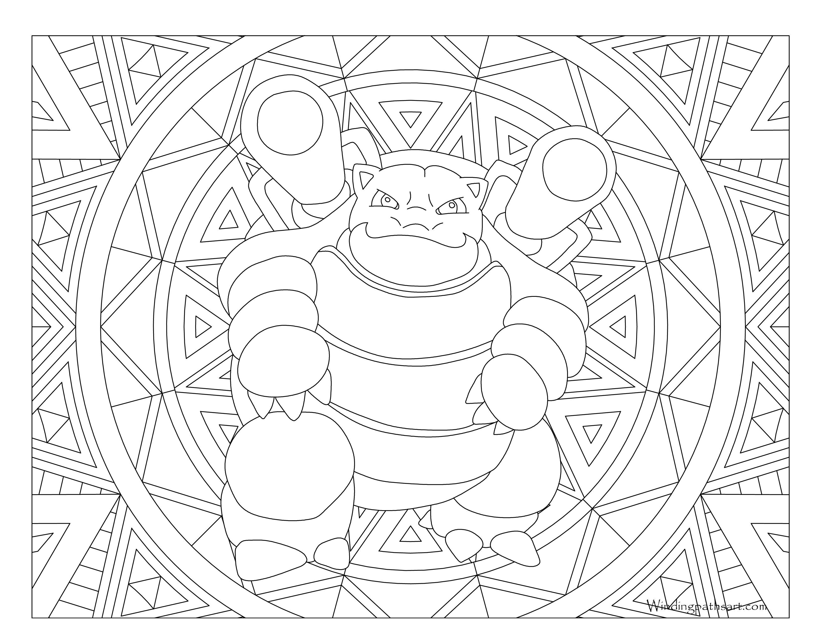 Drawing tv coloring page. Value pokemon blastoise unknown