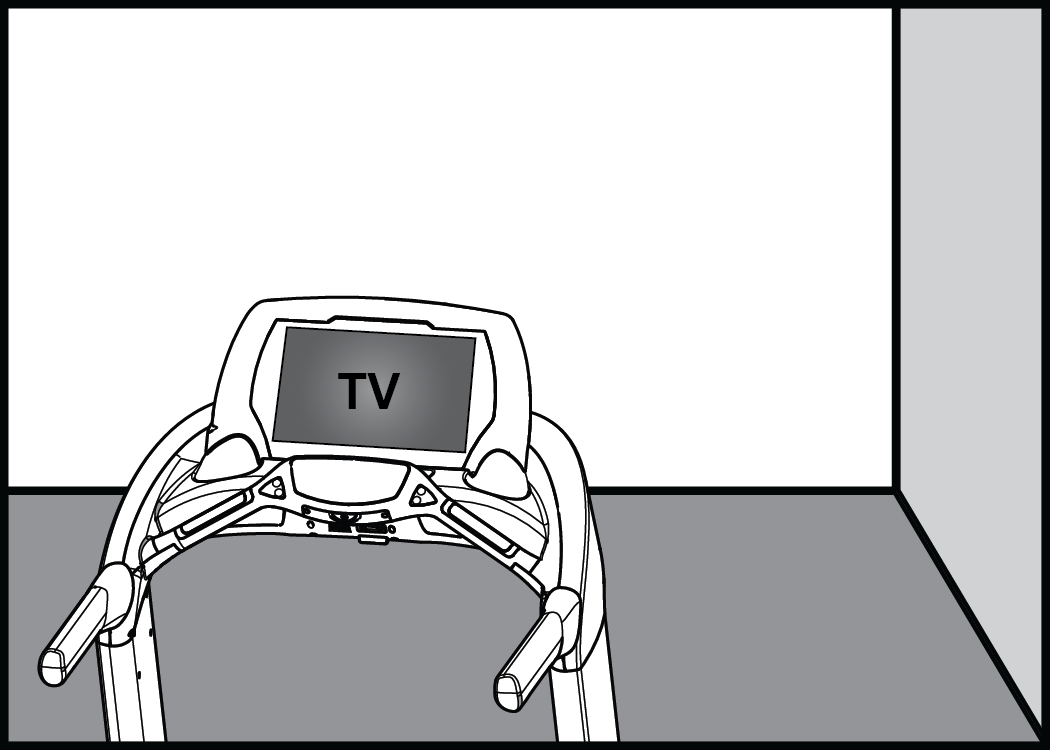 Drawing tv console. Embedded setup