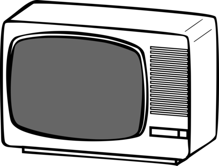 Drawing tv set. Television toy public domain