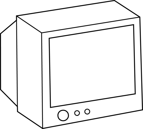 Drawing tv simple. Collection of high