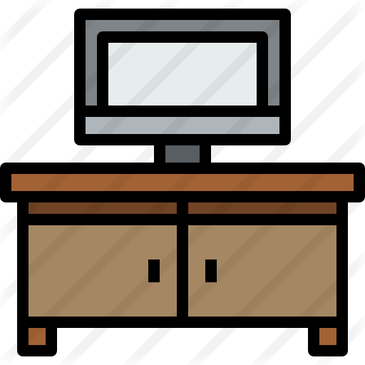 Drawing tv table. Free technology icons icon