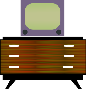 Drawing tv table. Tray television computer icons