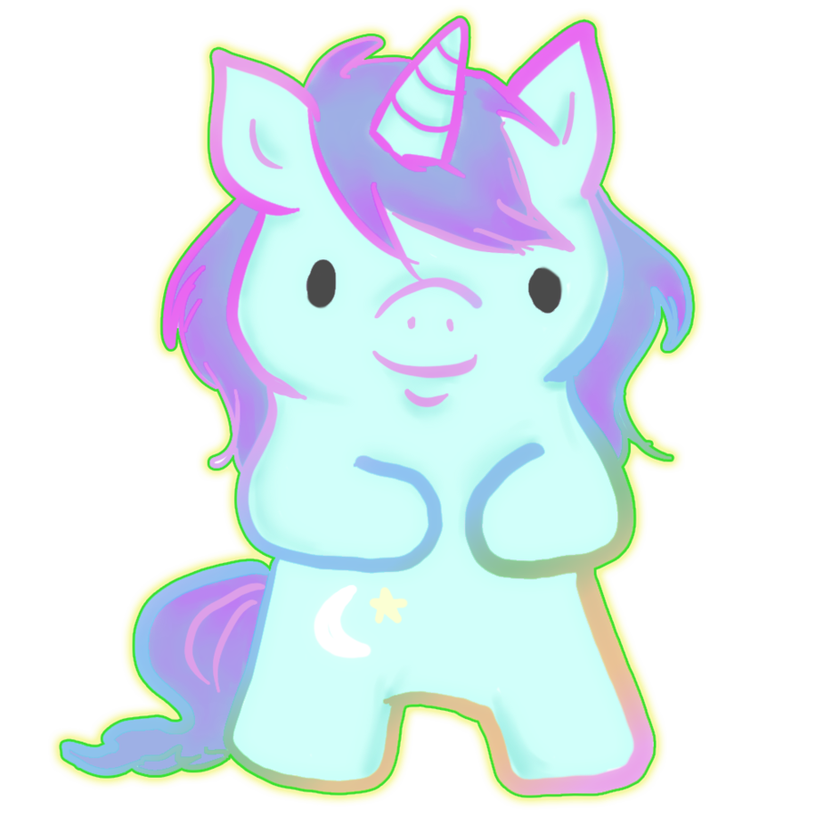 Drawing unicorns purple. Cute unicorn by ilichu