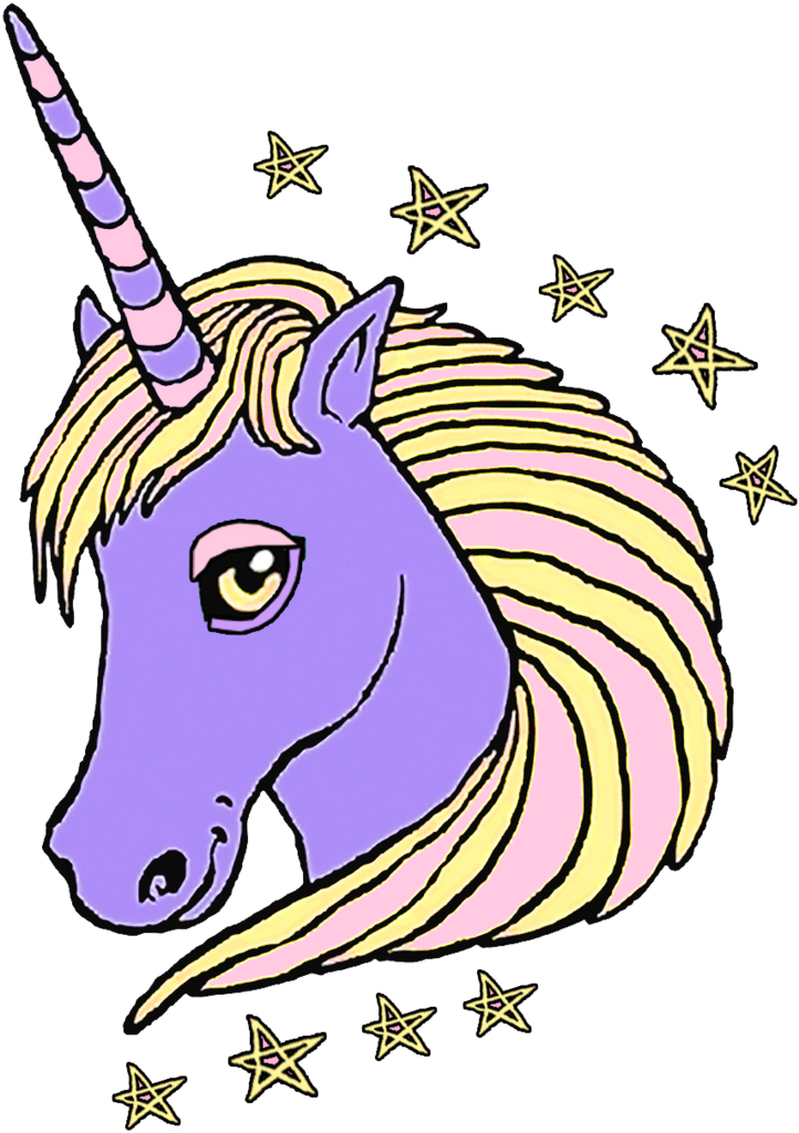Unicorn le petit indigent. Drawing unicorns purple banner black and white