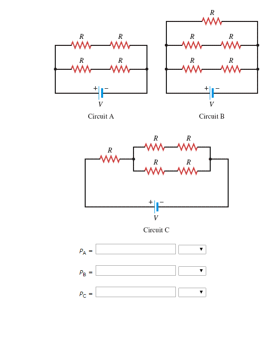 Drawing values. Solved each resistor in