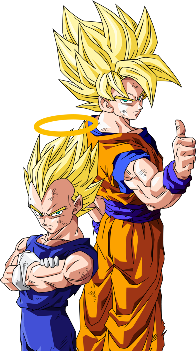 Drawing dbz hard. Goku and vegeta by