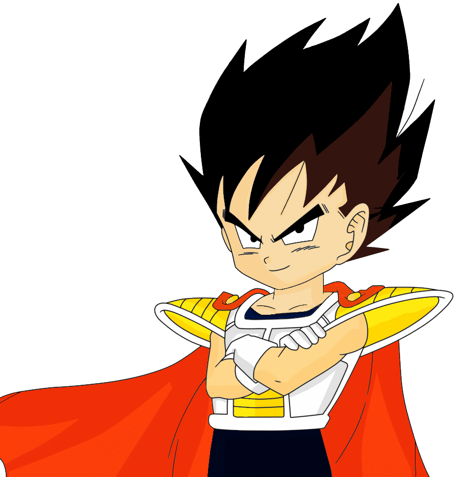 Drawing vegeta kid. Image png the lookout