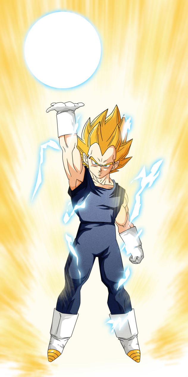 Drawing vegeta step by. This is the end