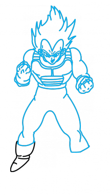 Drawing vegeta step by. How to draw dragonball