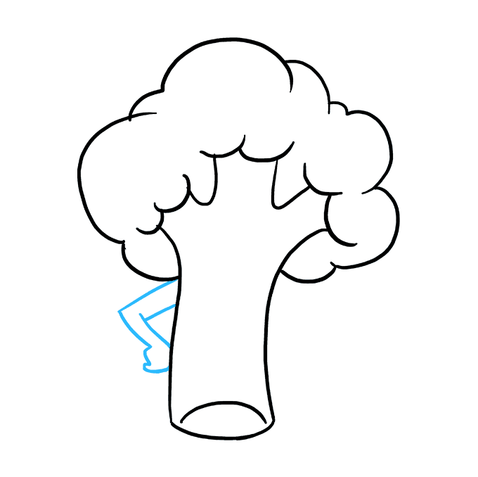 Drawing vegetable easy. How to draw broccoli