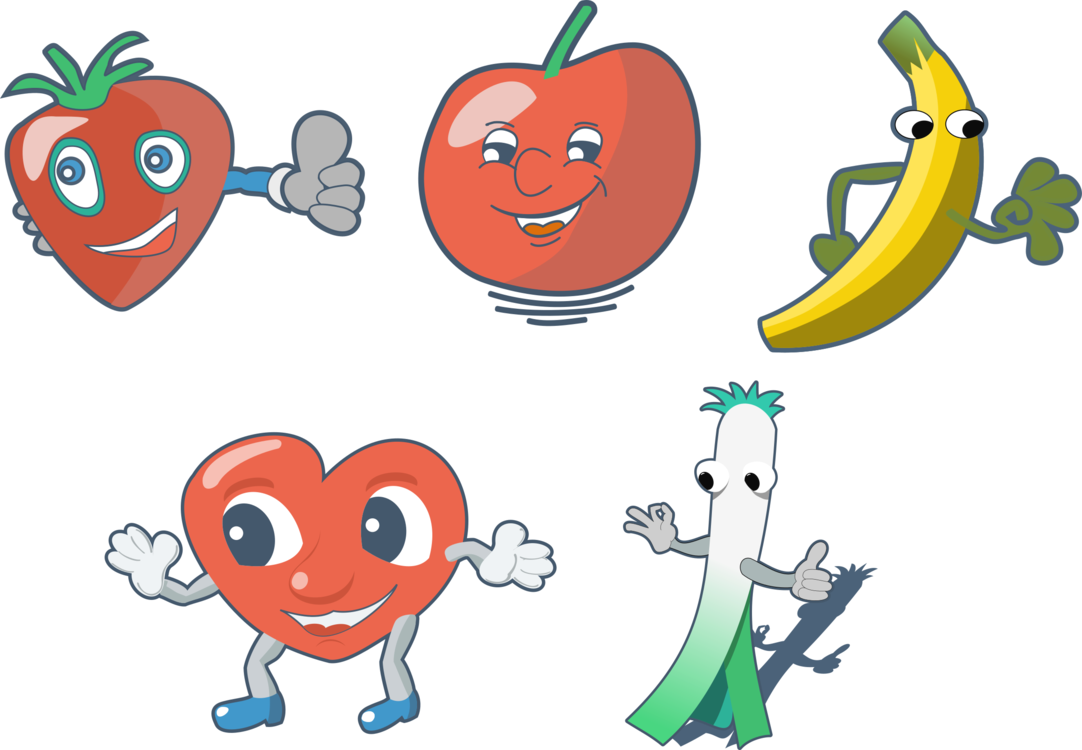 Drawing vegetable. Fruit cartoon download free