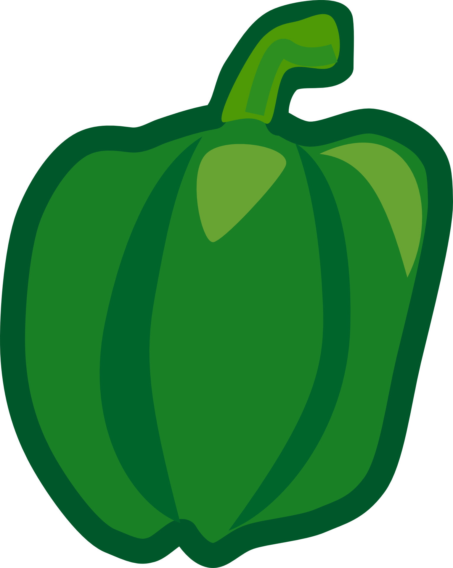 Drawing vegetable easy. Of green pepper free
