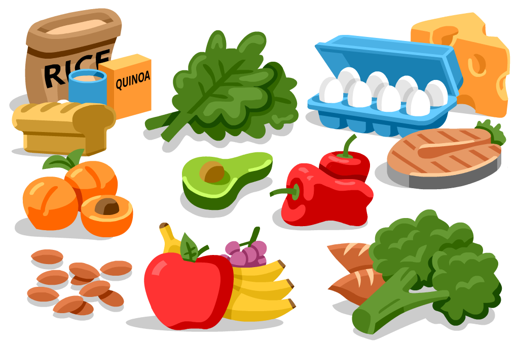 Healthy eating for runners. Gif clip nutritious picture free download