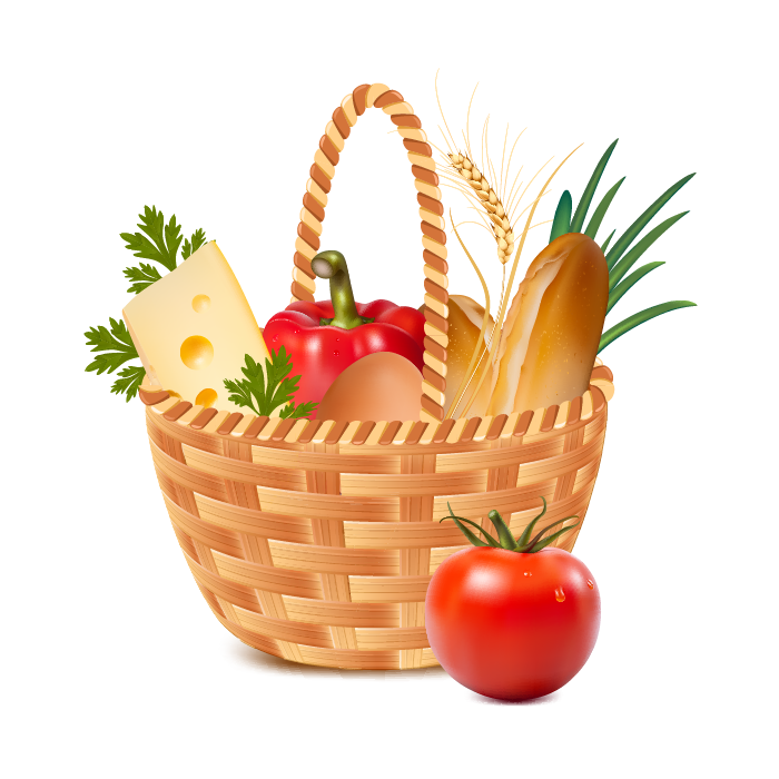 Drawing vegetable realistic. Basket clipart at getdrawings