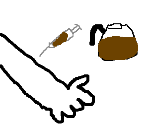Drawing veins clipart. I like coffee straight