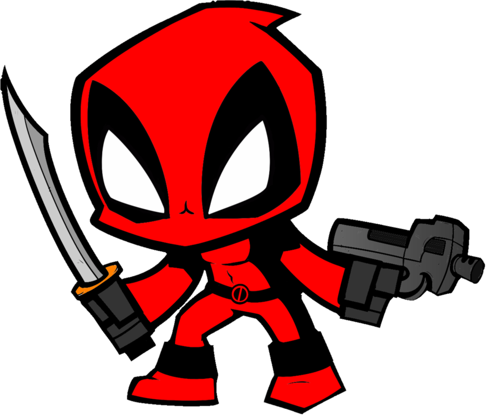 Drawing wallpapers deadpool. Clip art free