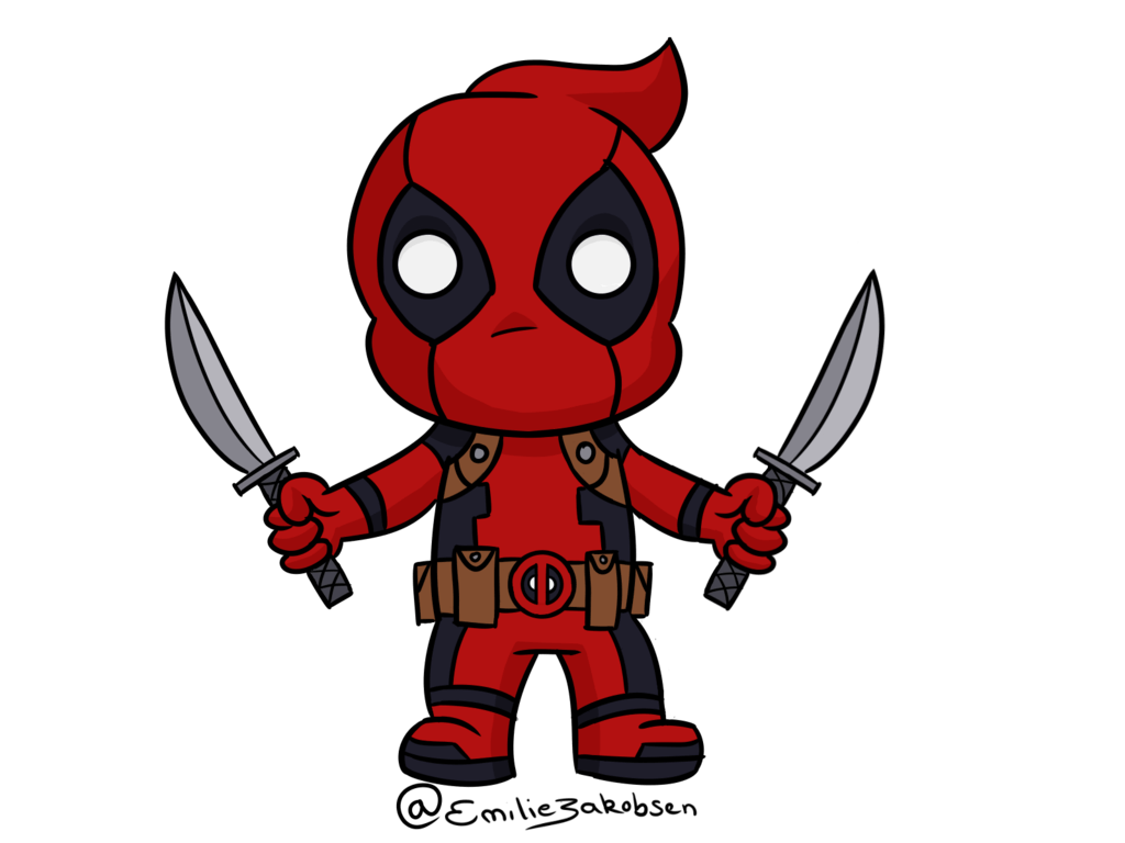 Drawing wallpapers deadpool. Best free small