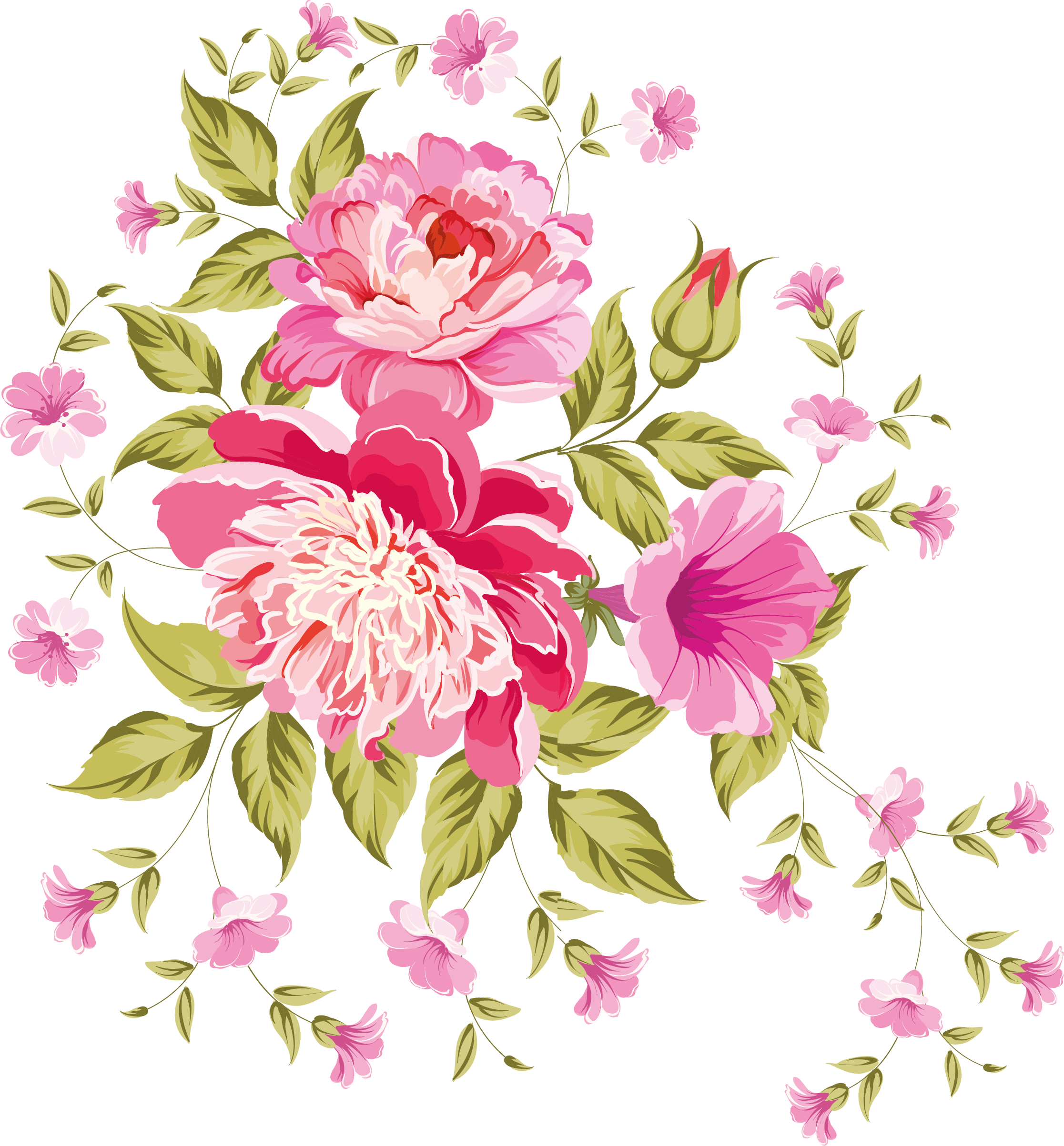 Drawing wallpapers flower. My design beautiful flowers