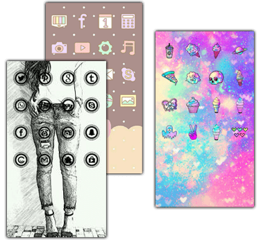 Drawing wallpapers home screen. Cocoppa launcher you can
