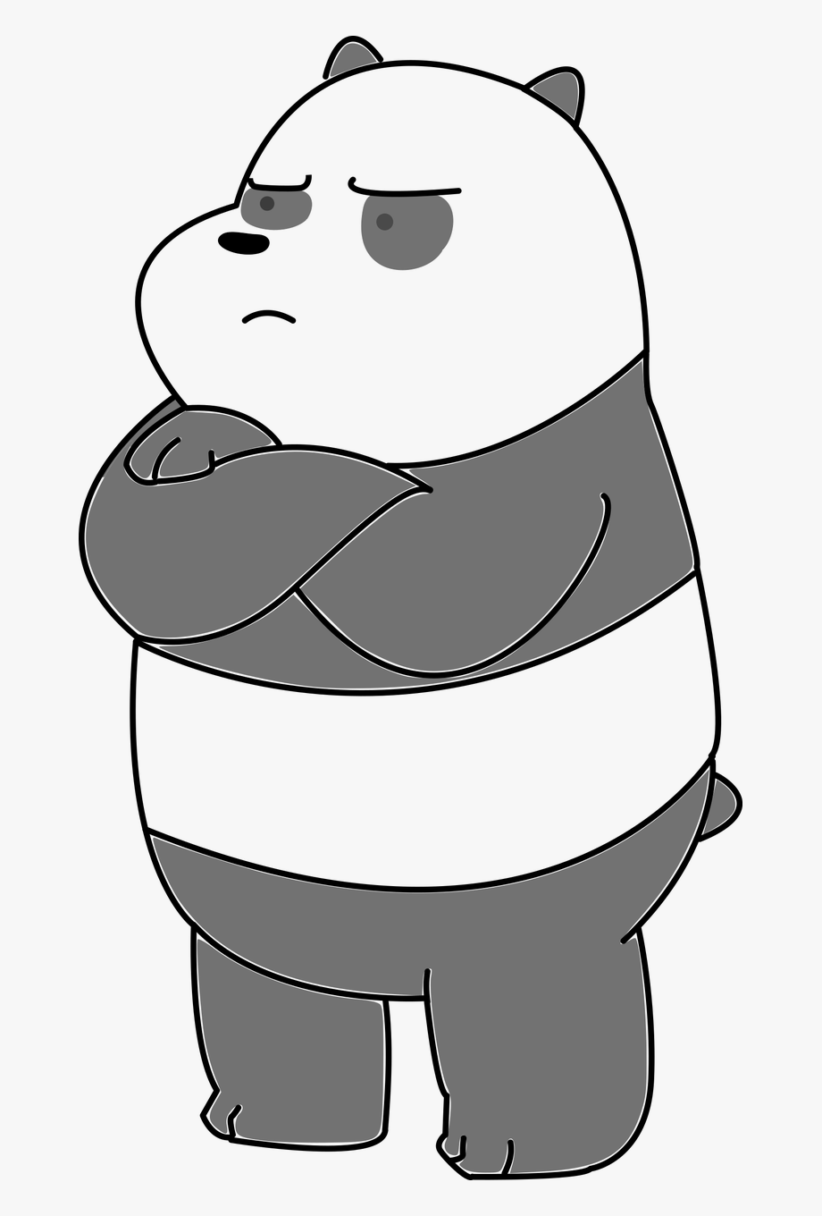 Drawing we bare bears. Panda bear animal free