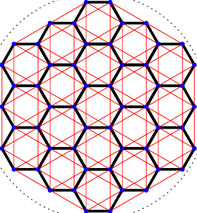 Hexagon drawing symmetrical. Left a section of