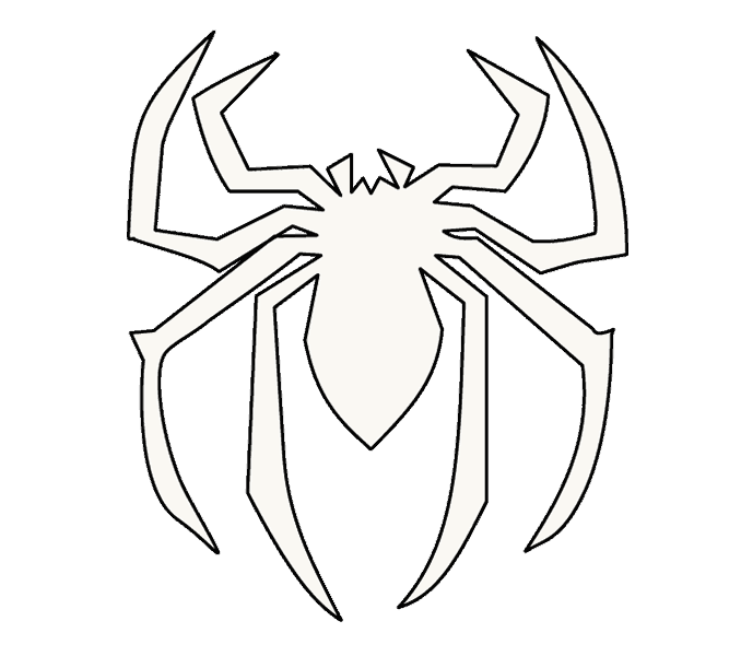 Drawing web spiderman. How to draw s