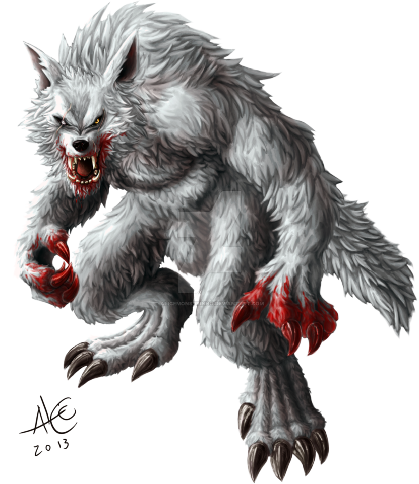 Drawing werewolf beast. Alpha by alicemonstrinho on