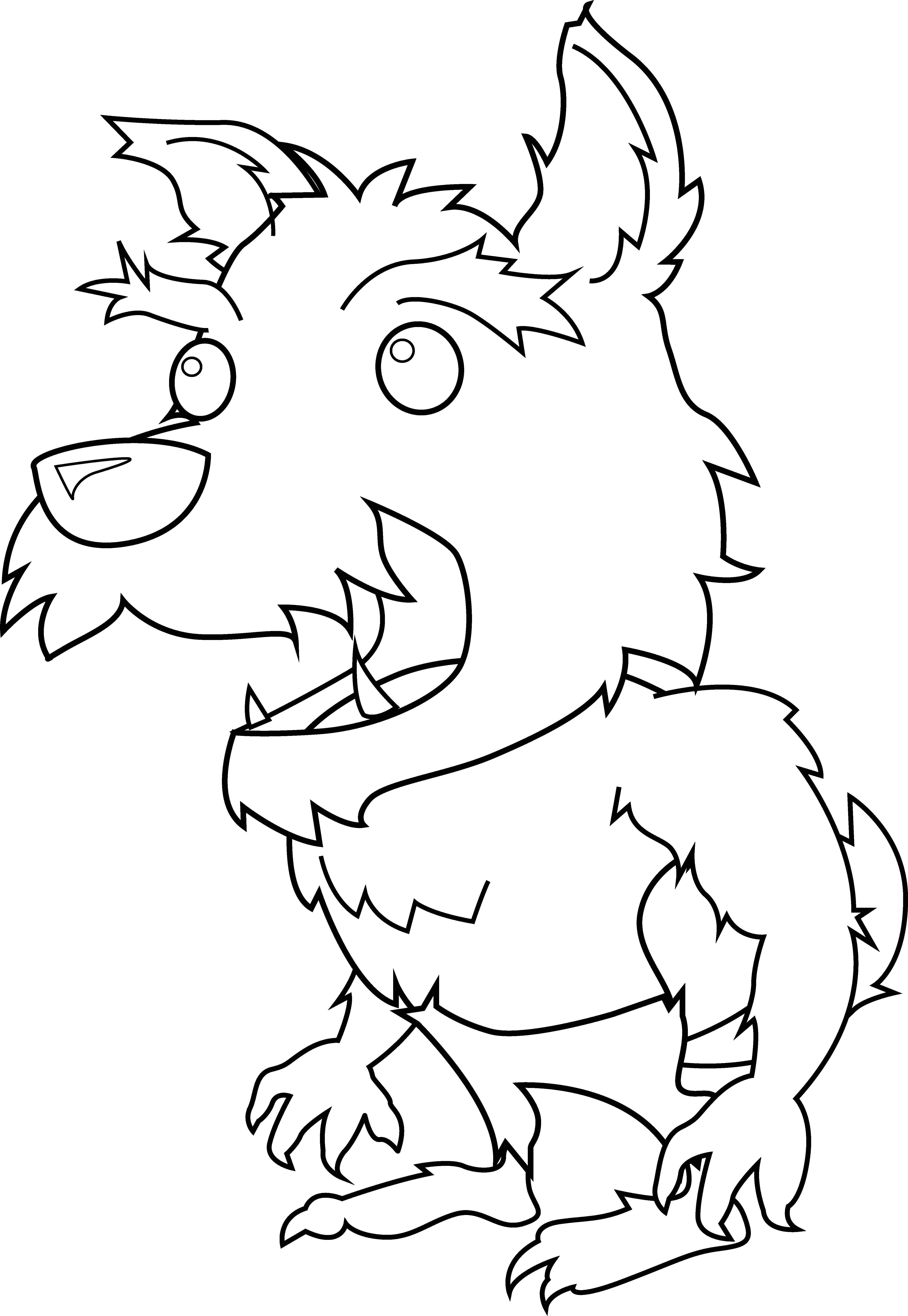Scary clip window. Free cartoon werewolves download