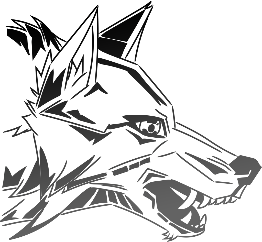 Drawing werewolf graffiti. Line of a wolf