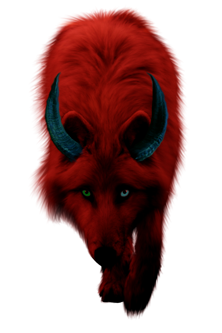 Wolves transparent demonic. Demon wolf by countrygirl