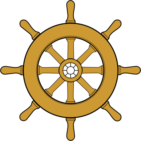 Drawing wheel ships. File steering ship png
