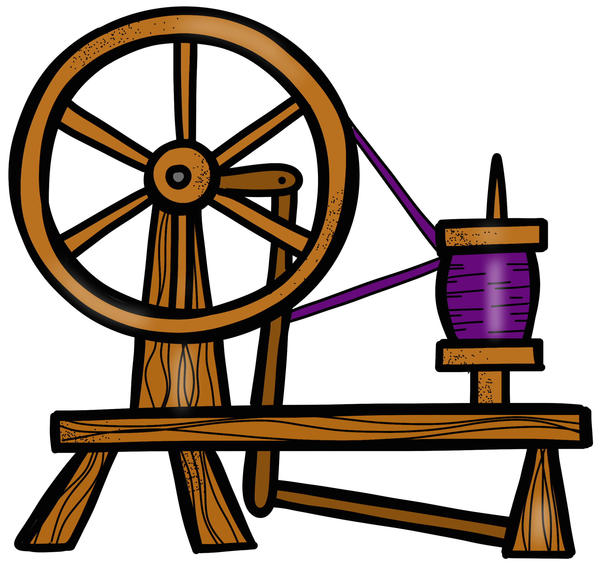 Spin clip wheel. Spinning sleeping beauty spindle