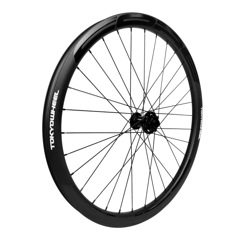 Drawing wheels bike wheel. Core carbon mountain wheelset