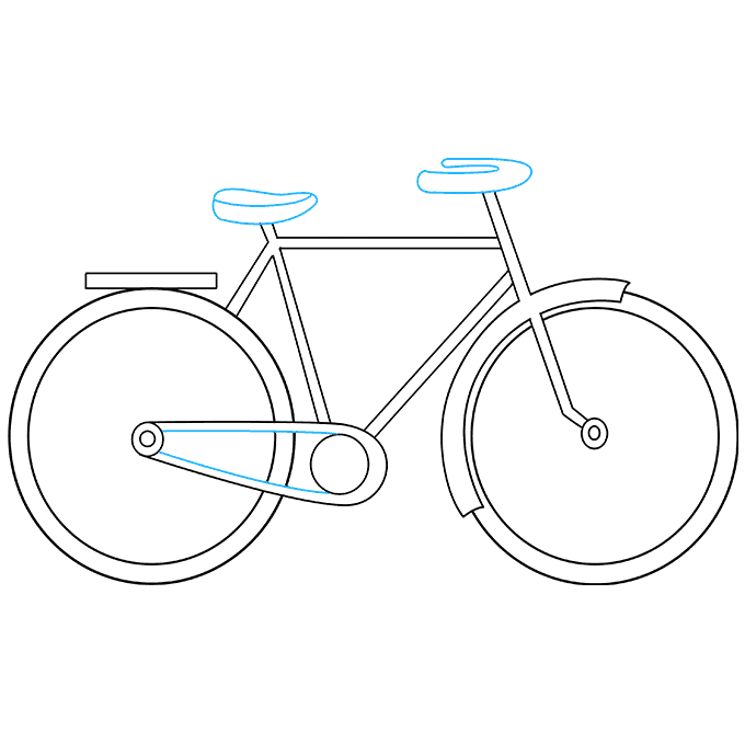 Drawing wheels draw. How to a bike
